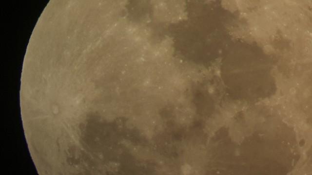 2015년 오후 7시경 서울 용산구 과학동아천문대 망원경을 통해 찍은 럭키문. - 과학동아천문대 유성범 제공